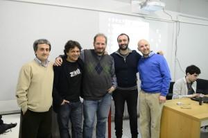 Da sinistra: Roberto Grassi, Francesco Cordella, Bonaventura Di Bello, Giovanni Riccardi, Marco Vallarino.